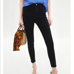 Zara super high waisted skinny jeans size 12